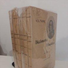 Libros antiguos: DICCIONARIO FILOSÓFICO. VOLTAIRE. 6 TOMOS. SEMPERE Y COMPAÑÍA EDITORES. AÑOS 20-30. Lote 221893238