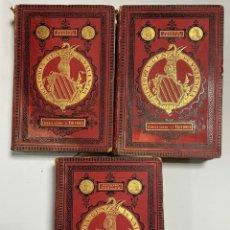 Libros antiguos: HISTORIA GENERAL DE VALENCIA. ESCOLANO Y PERALES. 3 TOMOS. TERRANZA ALIENA Y CIA EDITORES. 1878-80. Lote 221906458