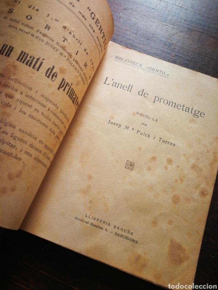 Libros antiguos: LANELL DE PROMETATGE- JOSEP M° FOLCH TORRES, BIBLIOTECA GENTIL. - Foto 2 - 222012203