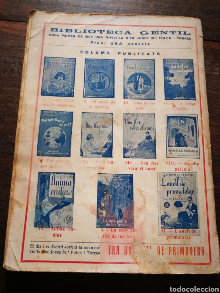 Libros antiguos: LANELL DE PROMETATGE- JOSEP M° FOLCH TORRES, BIBLIOTECA GENTIL. - Foto 3 - 222012203