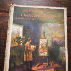 Libros antiguos: LA INCONEGUDA- JOSEP M° FOLCH TORRES, BIBLIOTECA GENTIL.. Lote 222014255