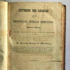 Libros antiguos: EXTERIOR DEL CABALLO Y DE LOS ANIMALES DOMÉSTICOS. - CASAS DE MENDOZA, NICOLÁS.. Lote 222016791
