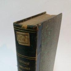 Libros antiguos: 1858 - CIVIALE - TRAITÉ PRATIQUE SUR LES MALADIES DES ORGANES GÉNITO URINAIRES II: MALADIES DE L'URÈ. Lote 222024118