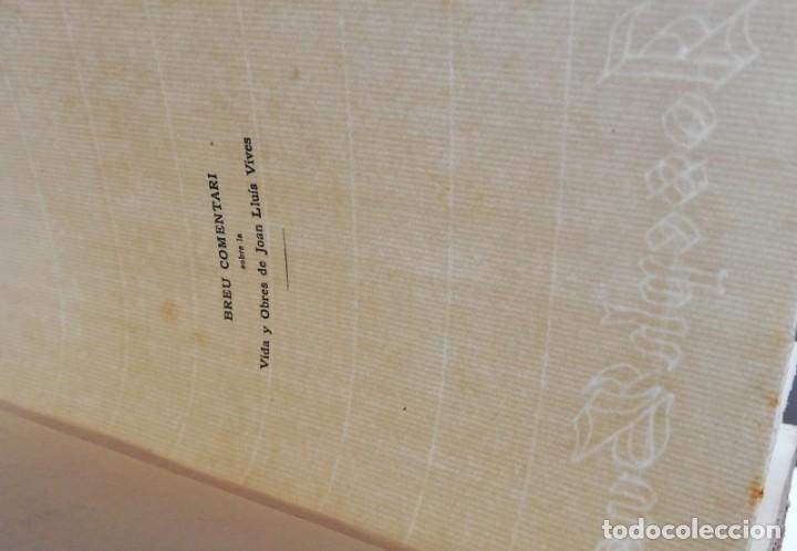 Libros antiguos: JOAN LLUIS VIVES: DIÀLECHS. TRAUDCCIÓ CATALANA. 1915 (1º ED) - Foto 3 - 222033605