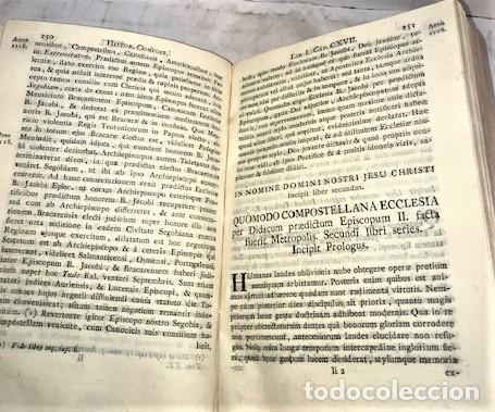 Libros antiguos: HENRIQUE FLOREZ ... ESPAÑA SAGRADA ... TOMO XX. HISTORIA COMPOSTELANA ... 1791 - Foto 3 - 222064551