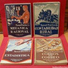 Libros antiguos: EDITORIAL CULTURA BARCELONA. 4 MANUALES.. Lote 222108550
