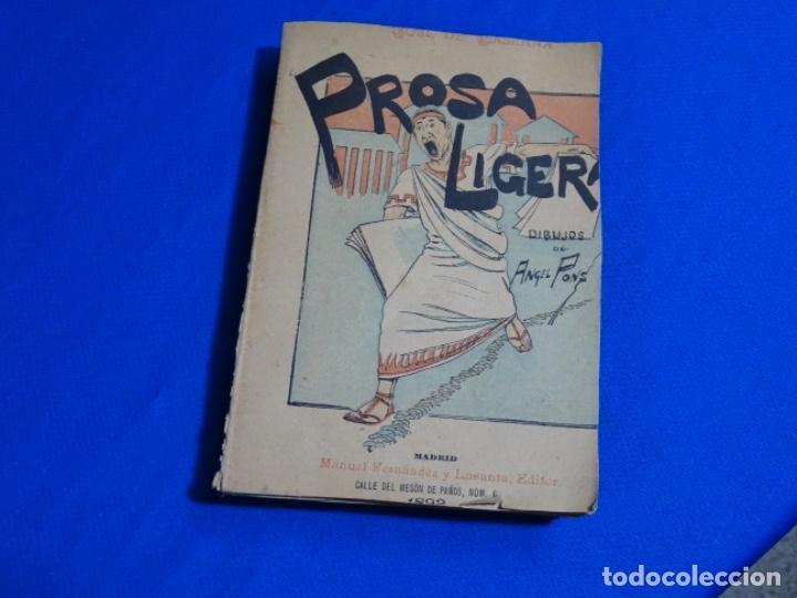 PROSA LIGERA.JOSE DE LASERNA.DIBUJOS DE ÁNGEL PONS.MADRID 1892. (Libros Antiguos, Raros y Curiosos - Literatura Infantil y Juvenil - Otros)