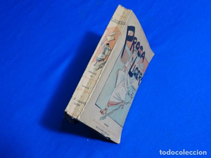 Libros antiguos: PROSA LIGERA.JOSE DE LASERNA.DIBUJOS DE ÁNGEL PONS.MADRID 1892. - Foto 2 - 222136156
