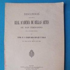 Libros antiguos: DISCURSOS REAL ACADEMIA DE BELLAS ARTES DE SAN FERNANDO 1896. Lote 222172080