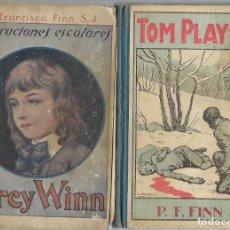 "Livres anciens: ""PERCY WINN"" Y ""TOM PLAYFAIR"" / R. P. FRANCISCO FINN. ED. LIBRERÍA RELIGIOSA. 1942 - 44. 2 LIBROS. Lote 222180915"