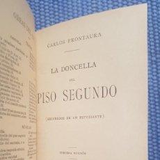 Libros antiguos: FRONTAURA: LA DONCELLA DEL PISO SEGUNDO (RECUERDOS DE UN ESTUDIANTE). Lote 222196200