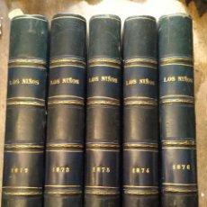 Libros antiguos: LOS NIÑOS REVISTA DE EDUCACIÓN Y RECREO. AÑOS 1872,73,74,75 Y 76. Lote 222315265