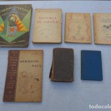 Libros antiguos: * ANTIGUO LOTE DE 7 LIBROS, VARIEDAD. ORIGINAL. ZX. Lote 222508202