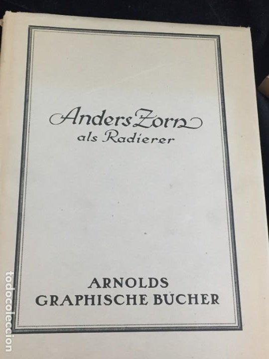ANDERS ZORN ALS RADIERER. AXEL ROMDAHL, DRESDEN ERNST ARNOLD 1924. ESTUCHE ORIGINAL. ALEMÁN. (Libros Antiguos, Raros y Curiosos - Otros Idiomas)