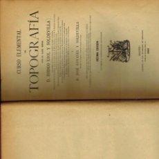 Libros antiguos: CURSO ELEMENTAL DE TOPOGRAFÍA. Lote 222527572