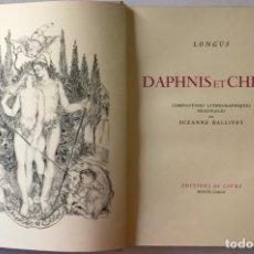 Libros antiguos: DAPHNIS ET CHLOÉ. - LONGUS.. Lote 123209678