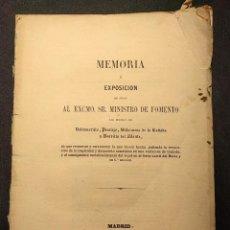 Libros antiguos: FERROCARRIL. MEMORIA. VALDEMORILLO, PERALEJO, VILLANUEVA DE LA CAÑADA Y BOADILLA DE MONTE. 1858.. Lote 222447767