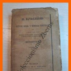 Libros antiguos: EL BANDOLERISMO. ESTUDIO SOCIAL Y MEMORIAS HISTÓRICAS. TOMO 3, INTRODUCCIÓN VOL 3 - J. DE ZUGASTI. Lote 222587688