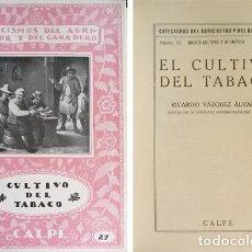 """Libros antiguos: VÁZQUEZ, RICARDO. EL CULTIVO DEL TABACO. 1921 (""""CATECISMOS DEL AGRICULTOR Y DEL GANADERO"""").. Lote 222687838"""