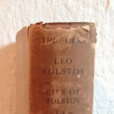 "Libros antiguos: LIBRO 1930 ""THE LIFE OF TOLSTOY"" LATER YEARS VOL.II AYLMER MAUDE.BUEN ESTADO.OXFORD UNIVERSITY PRESS. Lote 222708950"