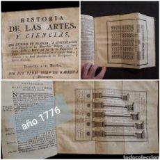 Libros antiguos: HISTORIA DE ARTES Y CIENCIAS ROLLIN BARREDA 1776 AGRICULTURA VINO COMERCIO ARQUITECTURA MILITARIA. Lote 222709997