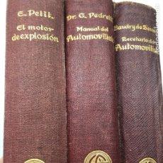 Libros antiguos: LIBROS AUTOMÓVILES GUSTAVO GILI EDITOR (1932-1932). Lote 222714107