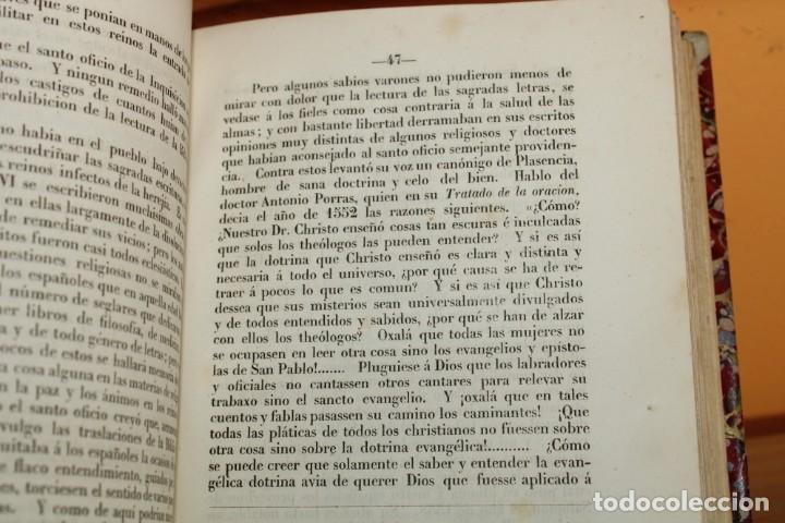 Libros antiguos: 1851 / HISTORIA DE LOS PROTESTANTES ESPAÑOLES Y DE PERSECUCION POR FELIPE II / ADOLFO DE CASTRO - Foto 9 - 222747607
