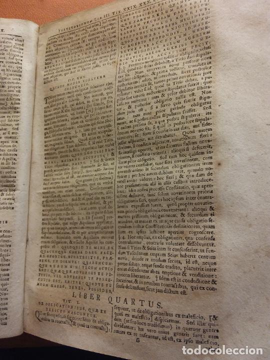Libros antiguos: IVRIS CIVILIS. CORPUS ROMANI. 1 TOMO. IO GOTTL. HEINECCIVS. OFICINA LIBRARIA CHRISTIAN SAMVELIS 1735 - Foto 3 - 222795583