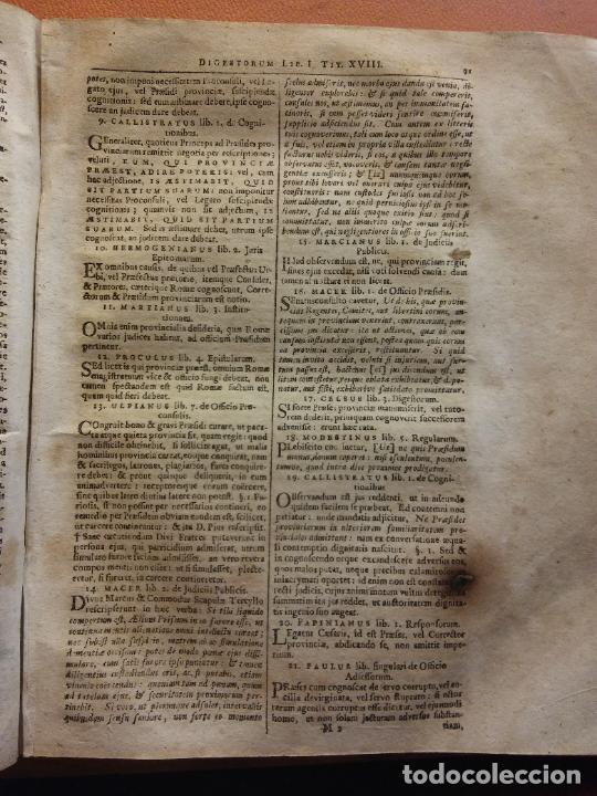 Libros antiguos: IVRIS CIVILIS. CORPUS ROMANI. 1 TOMO. IO GOTTL. HEINECCIVS. OFICINA LIBRARIA CHRISTIAN SAMVELIS 1735 - Foto 5 - 222795583
