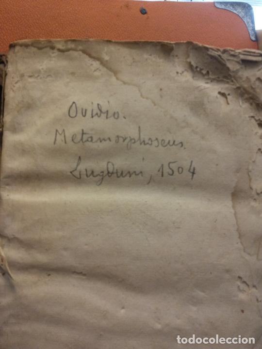 OVIDIO. METAMORPHOSEOS. LUGDUNI, 1504. VER FOTOS (Libros Antiguos, Raros y Curiosos - Otros Idiomas)