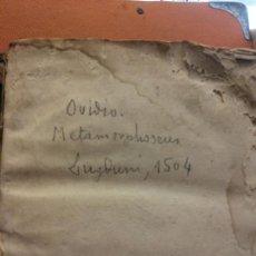 Libros antiguos: OVIDIO. METAMORPHOSEOS. LUGDUNI, 1504. VER FOTOS. Lote 222795782