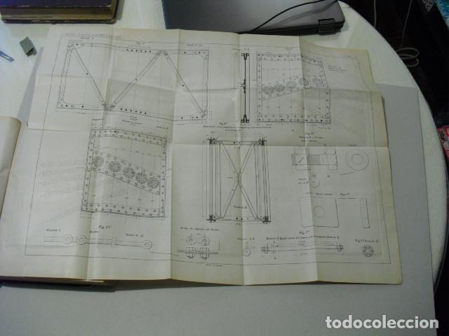 Libros antiguos: 1886 PROYECTO DE PUENTE METÁLICO PORTÁTIL CON 8 GRANDES LÁMINAS DESPLEGABLES CORON MARVÁ Y MAYER - Foto 3 - 222814333