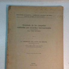 Libros antiguos: RESULTADO DE LAS CAMAPAÑAS REALIZADAS POR ACUERDOS INTERNACIONALES. LA INDUSTRIA DEL ATÚN EN ESPAÑA. Lote 222906065