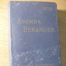 Libros antiguos: AGENDA BERANGER 1933 LIBRAIRIE POLYTECHNIQUE . PARIS PARA INGENIEROS ARQUITECTOS MECANICOS FRANCES. Lote 222925848