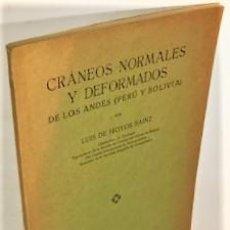 Livros antigos: LUIS DE HOYOS SAINZ ... CRANEOS NORMALES Y DEFORMADOS DE LOS ANDES PERU Y BOLIVIA ... 1925. Lote 223008663