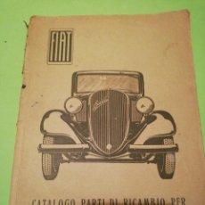 Libros antiguos: FIAT MANUAL EN ITALIANO COCHE BALILLA. Lote 223113862