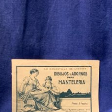 Libros antiguos: LA CANASTILLA DE LABORES DIBUJOS Y ADORNOS PARA MANTELERIA HOGAR Y MODA N 15 17X24CMS. Lote 223158606