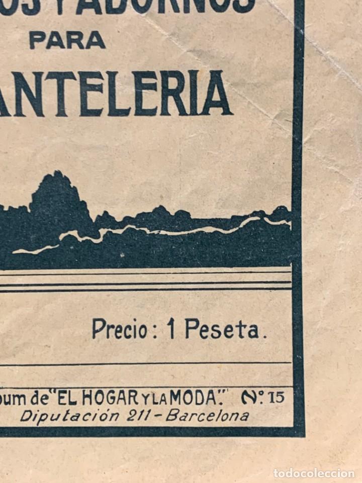 Libros antiguos: la canastilla de labores dibujos y adornos para manteleria hogar y moda n 15 17x24cms - Foto 2 - 223158606