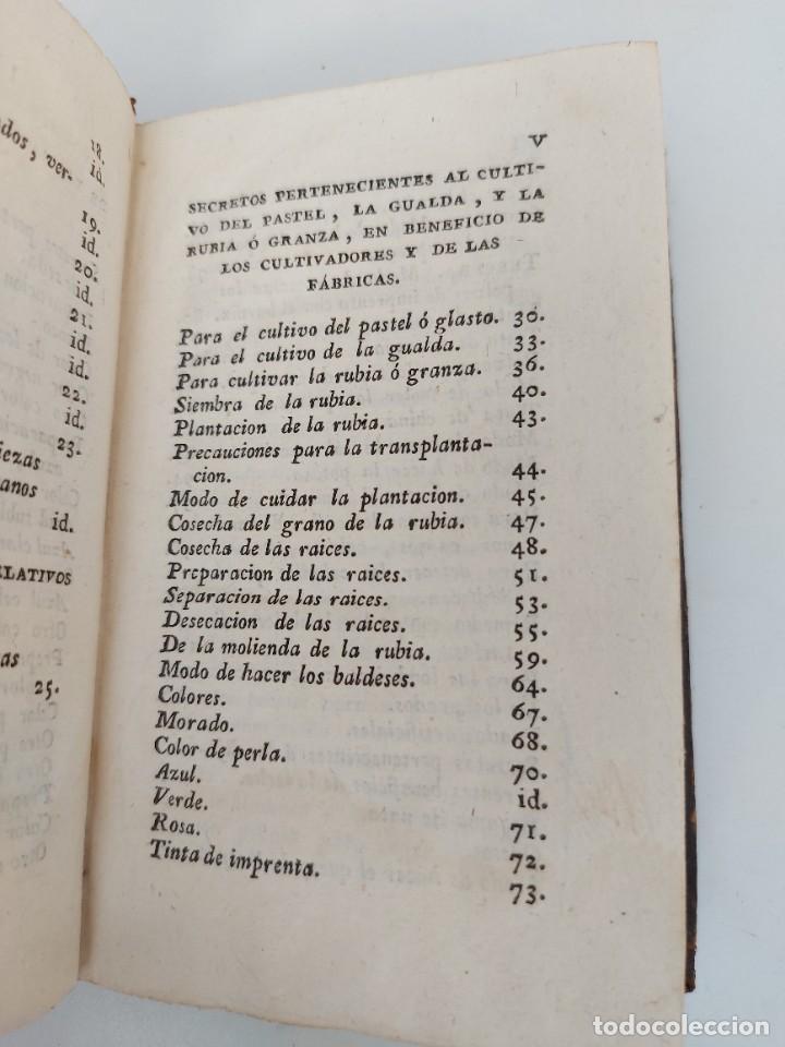 Libros antiguos: Nº 8 - DE LOS SECRETOS DE ARTES Y OFICIOS - AÑO 1807 - IMPRENTA DE VILLALPANDO - TINTES DE SEDA CULT - Foto 3 - 223202873