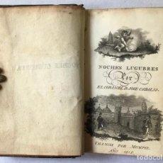 Libri antichi: NOCHES LUGUBRES. - CADALSO, JOSÉ.. Lote 123169356