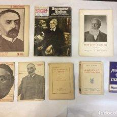 Libros antiguos: LOTE UNAMUNO (8 PUBLICACIONES). Lote 83555368