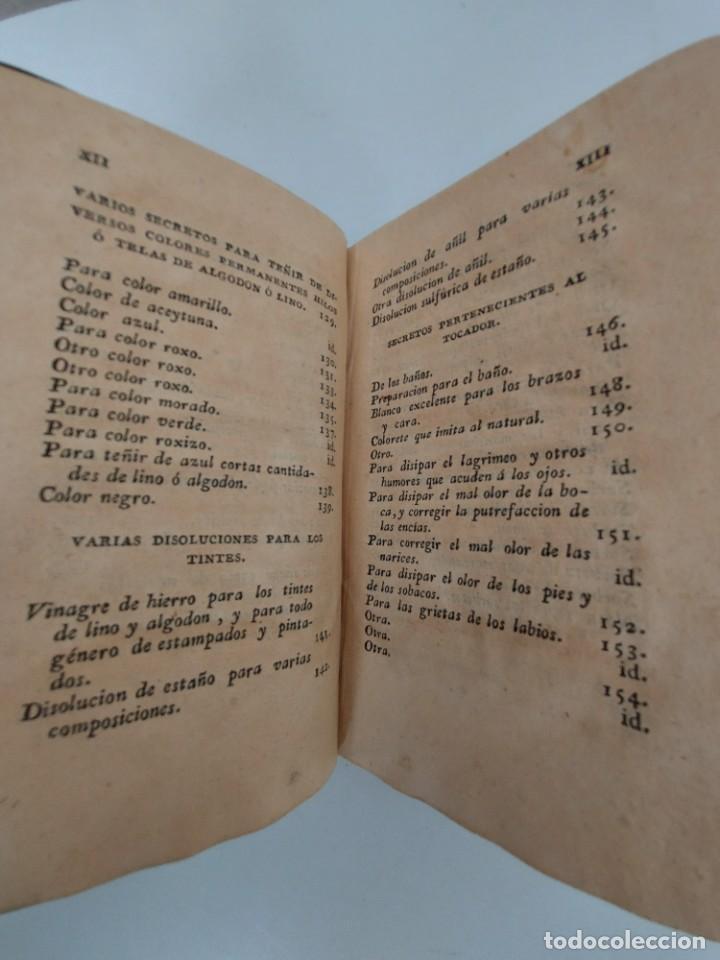 Libros antiguos: TOMO Nº 3 - SECRETOS RAROS DE ARTES Y OFICIOS - AÑO 1807 - IMPRENTA DE VILLALPANDO - PINTURA, YESO, - Foto 5 - 223306176
