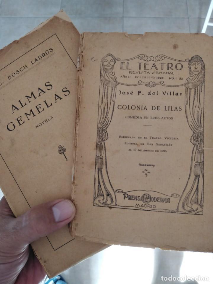 LIBROS ANTIGUOS ALMAS GEMELAS EN PAPEL JAPON SOLO 12 EJEMPLARES. Y REVISTA TEATRO SEMANAL. (Libros Antiguos, Raros y Curiosos - Pensamiento - Otros)