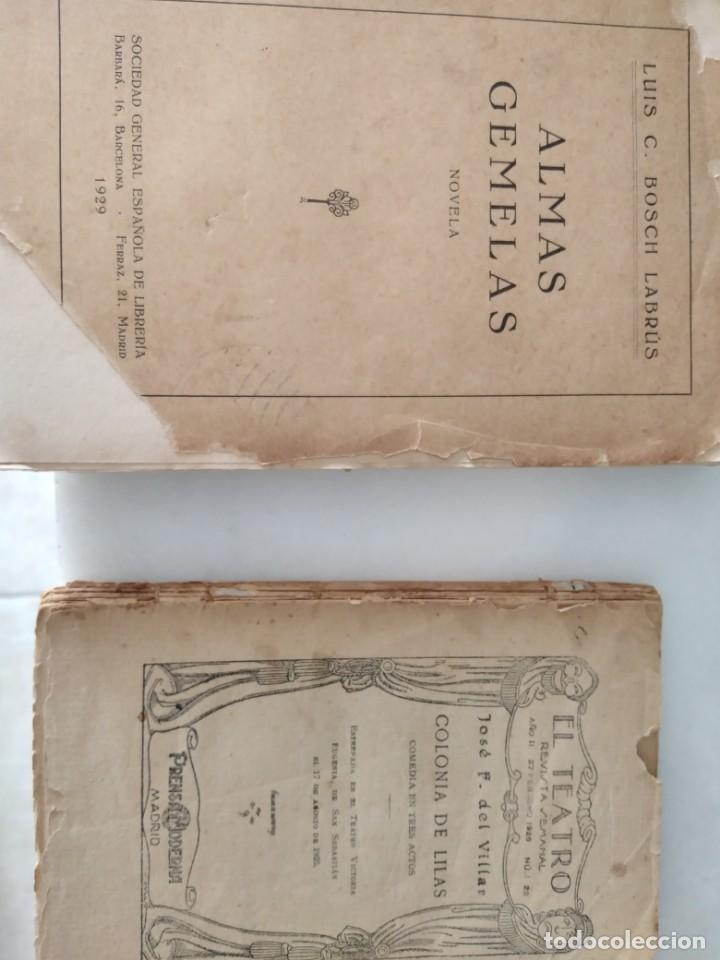Libros antiguos: LIBROS ANTIGUOS ALMAS GEMELAS EN PAPEL JAPON SOLO 12 EJEMPLARES. Y REVISTA TEATRO SEMANAL. - Foto 2 - 223470776