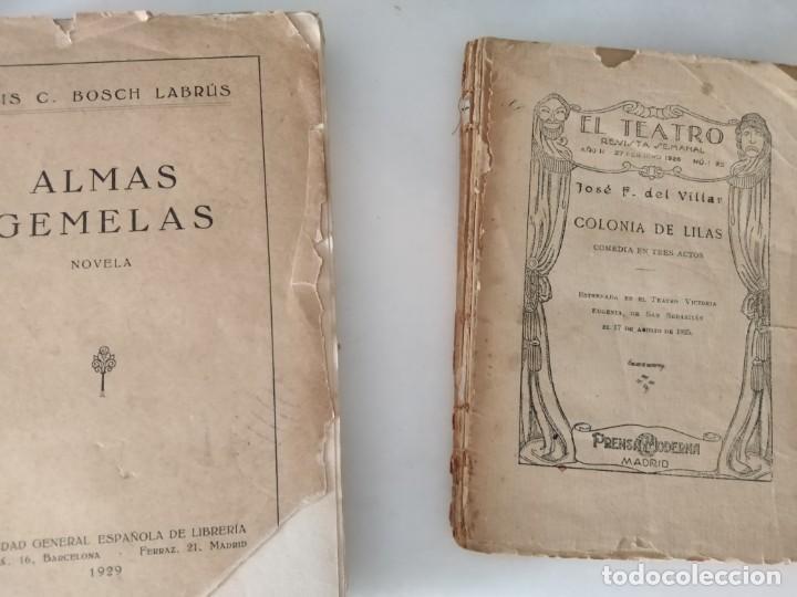 Libros antiguos: LIBROS ANTIGUOS ALMAS GEMELAS EN PAPEL JAPON SOLO 12 EJEMPLARES. Y REVISTA TEATRO SEMANAL. - Foto 6 - 223470776