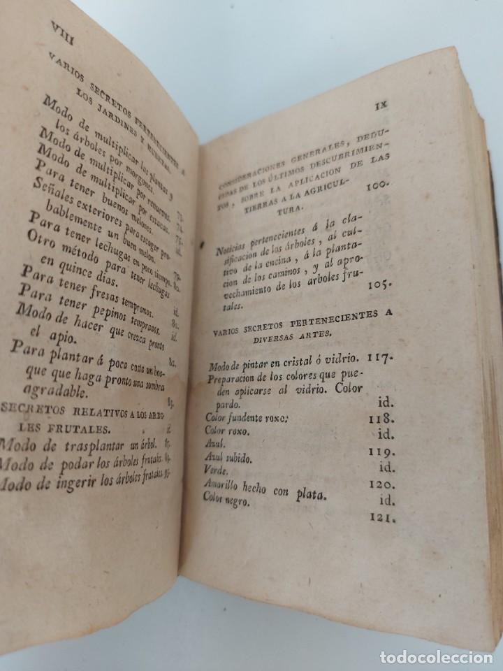Libros antiguos: TOMO Nº 10 - SECRETOS RAROS DE ARTES Y OFICIOS - AÑO 1807 - IMPRENTA DE VILLALPANDO - LOZA DE CHINA, - Foto 3 - 223476296