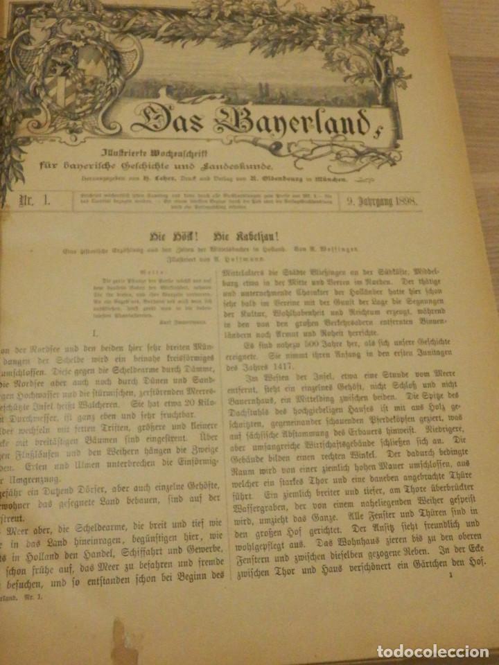 Libros antiguos: Das Bayerland - En Alemán - del Nº 1 al 51 - 620 páginas - Año 1898 - Encuadernados - Foto 4 - 223621702