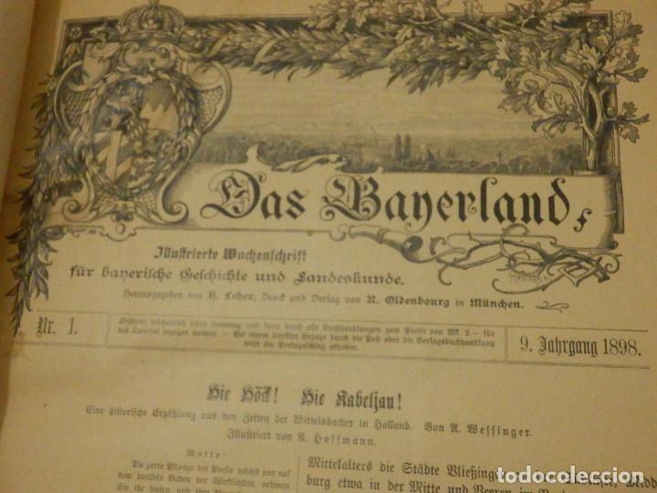 Libros antiguos: Das Bayerland - En Alemán - del Nº 1 al 51 - 620 páginas - Año 1898 - Encuadernados - Foto 5 - 223621702