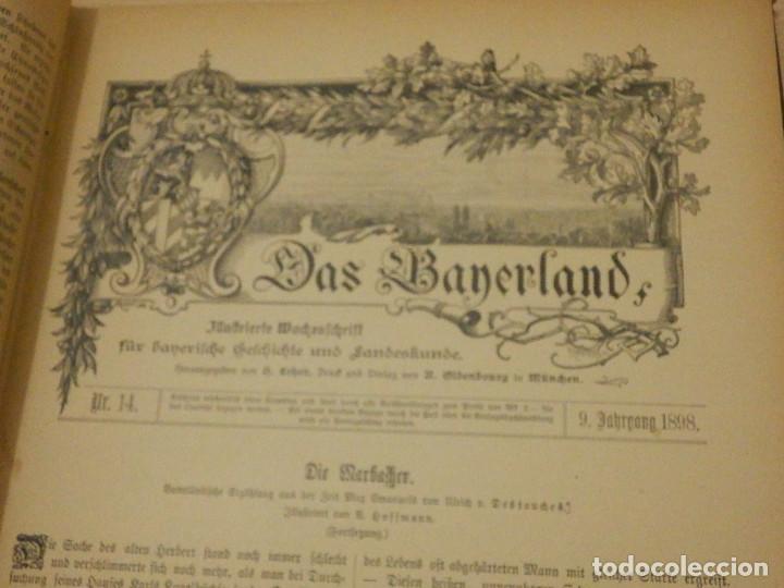 Libros antiguos: Das Bayerland - En Alemán - del Nº 1 al 51 - 620 páginas - Año 1898 - Encuadernados - Foto 6 - 223621702