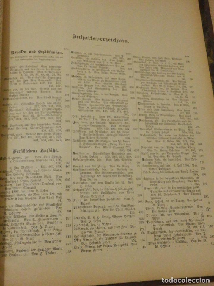 Libros antiguos: Das Bayerland - En Alemán - del Nº 1 al 51 - 620 páginas - Año 1898 - Encuadernados - Foto 10 - 223621702
